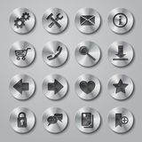 Website Icons Metal Royalty Free Stock Photography