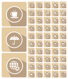 Website icons,Mobile and technology icons. Cream version Royalty Free Stock Photography