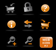 Website icons, part 2 Royalty Free Stock Image