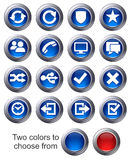 Website icons - SET 2. Icons upload, download buttons, phone, restore, backup and save computer files and digital media Royalty Free Stock Image