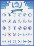 30 Website Icons set,Blue version.  Stock Photos