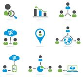 Website icons set Royalty Free Stock Photos