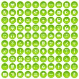 100 website icons set green. 100 website icons set in green circle isolated on white vectr illustration stock illustration