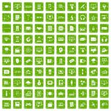 100 website icons set grunge green Royalty Free Stock Photography