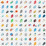 100 website icons set, isometric 3d style. 100 website icons set in isometric 3d style for any design vector illustration Stock Illustration
