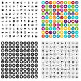 100 website icons set vector variant. 100 website icons set vector in 4 variant for any web design isolated on white Stock Photography