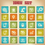 Website icons,Vintage version 3.  Royalty Free Stock Photo