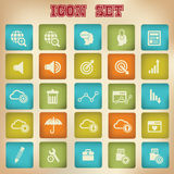 Website icons,Vintage version 2.  Stock Photography