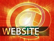 Website illustration Royalty Free Stock Image