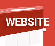 Website illustration Stock Photo