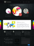 Website with infographics Stock Photography
