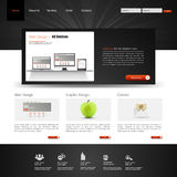 Website interface template design. Vector Royalty Free Stock Photos