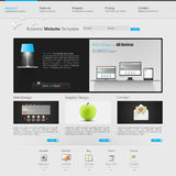 Website interface template design. Vector Stock Photos