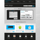 Website interface template design. Vector Royalty Free Stock Photography