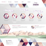 Website interface template design. Vector Royalty Free Stock Photo
