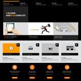 Website interface template design. Vector Stock Photos