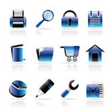 Website, internet and computer icons Royalty Free Stock Photography