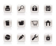 Website, internet and computer icons Royalty Free Stock Photos