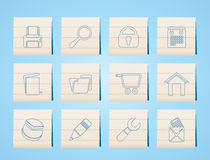Website, internet and computer icons Royalty Free Stock Images