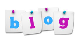 Blog Word On Post It Royalty Free Stock Photography