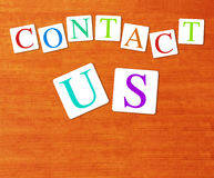 Website and Internet Contact Us Concept with copy space Royalty Free Stock Images