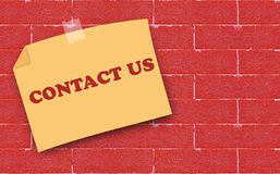 Website and Internet Contact Us Concept Royalty Free Stock Photo