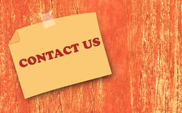 Website and Internet Contact Us Concept Royalty Free Stock Image