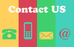 Website and Internet Contact Us Concept Stock Photo