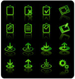 Website & Internet Icon set. Website & Internet Icon set ( Green series over black Stock Image