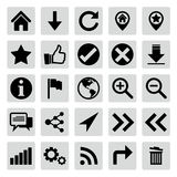 Website and internet icon set Royalty Free Stock Image