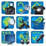 Website and internet icons 1 Stock Images