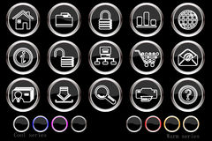 Website and internet icons Stock Photo