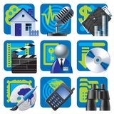 Website and internet icons 2. Raster version of vector set of blue website and internet icons 2 There is in addition a vector format (EPS 8 stock illustration