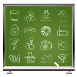 Website and internet icons stock illustration