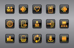 Website & Internet icons Stock Images