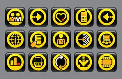 Website and internet icons Royalty Free Stock Photography