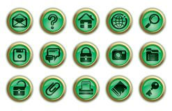 Website and internet icons Stock Photos