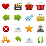 Website and internet icons Royalty Free Stock Images