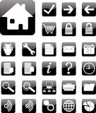 Website and internet icons black square Series Royalty Free Stock Photos