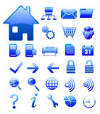 Website and internet icons blue  Series Royalty Free Stock Photo