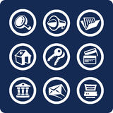 Website and Internet icons (set 2, part 1) stock illustration