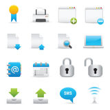 Website & Internet Icons Set | Indigo Serie 02 Royalty Free Stock Photography