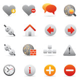 Website & Internet Icons Set | Red Serie 01 Stock Images