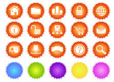 Website and internet icons sun series Royalty Free Stock Photos