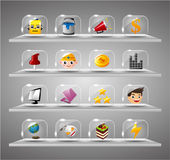 Website Internet Icons ,Transparent Glass Button Stock Photos