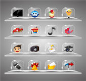 Website Internet Icons ,Transparent Glass Button Royalty Free Stock Photography