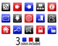 Website and Internet icons. Vector. Website and Internet icons set. Vector illustration, all colors and elements are isolated on separate layers, you can easy Stock Photo