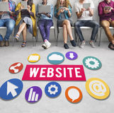 Website Internet Networking Social Browser Data Concept royalty free stock photography