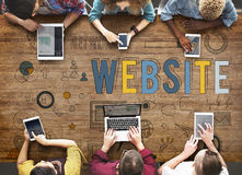 Website Internet Online Social Networking Connection Concept Royalty Free Stock Photos