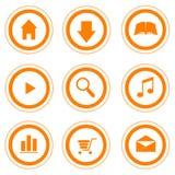 Website-/Internet-Shop-Ikonen Stockfotografie